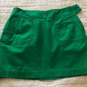 Kelly green lined skirt